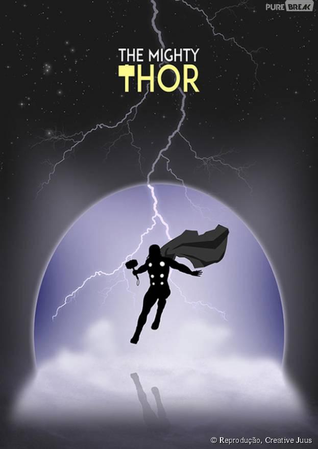 Designer cria artes minimalista para heróis do HQ, como o Thor! Confira outras: