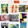 """As fotos do """"Retrica"""" ficam com a logo do aplicativo"""