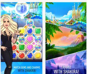 """Em """"Love Rocks"""", o mobile game da Shakira, você combina gemas para fazer pontos"""