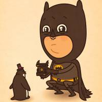 Batman, Capitão América, Thor e outros heróis da cultura pop ganham ilustrações super divertidas!