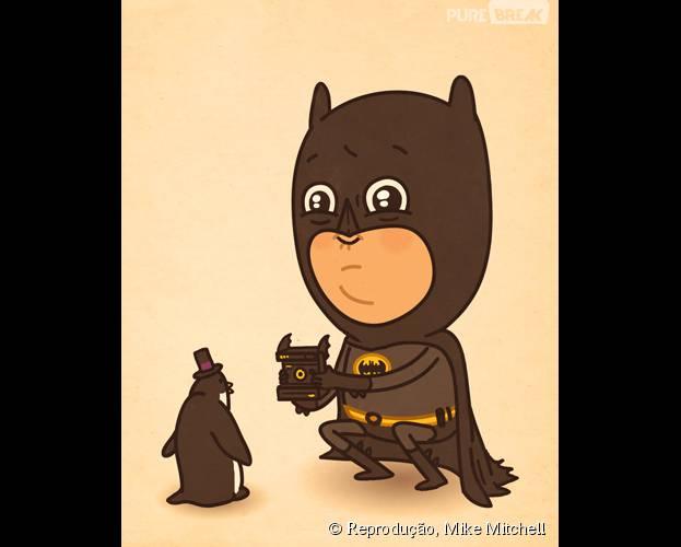 Batman só consegue enfrentar esse tipo de pinguim agora...