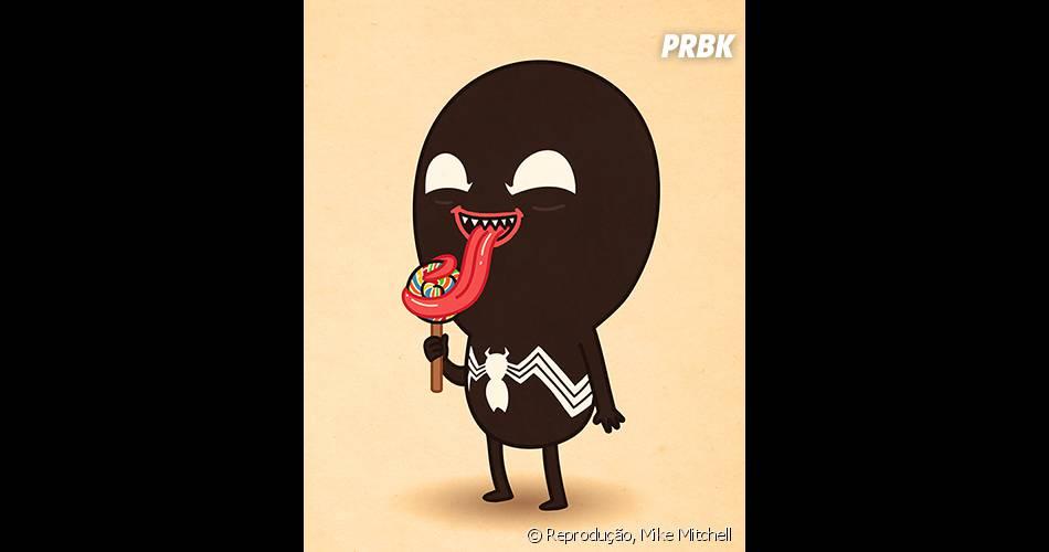 Quem vê o Venom assim até pensa que ele é um doce de pessoa...