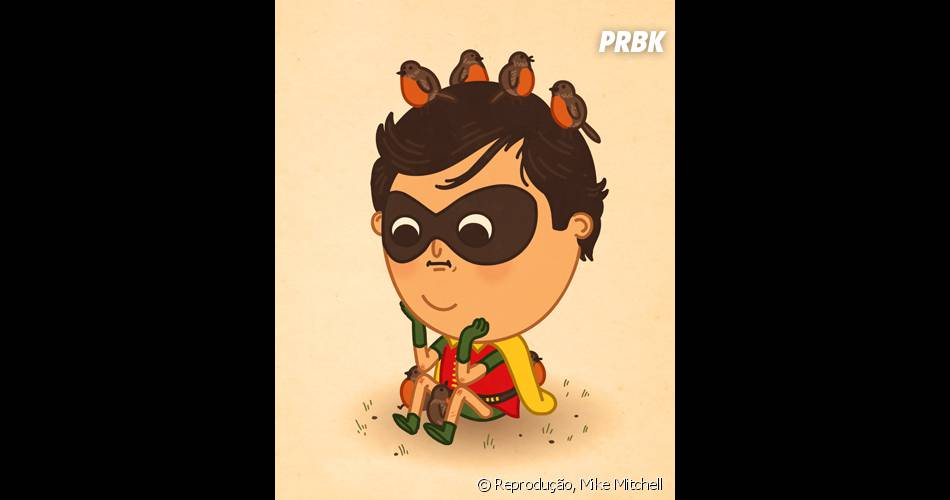 Robin está chateado com alguma coisa...