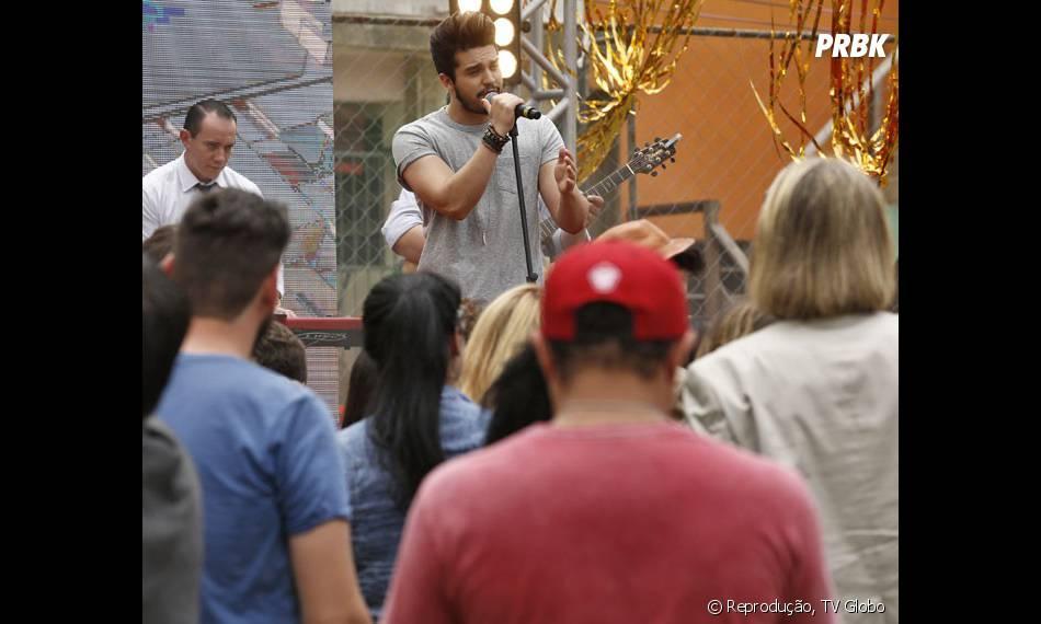 """Gravação de """"I Love Paraisópolis"""" comLuan Santana envolveu cerca de 160 pessoas"""