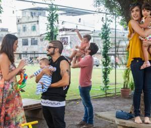 """Em """"I Love Paraisópolis"""", Mari (Bruna Marquezine), Ben (Maurício Destri), Margot (Maria Casadevall) e Grego (Caio Castro) esquecem o passado e vivem em paz com os filhos!"""
