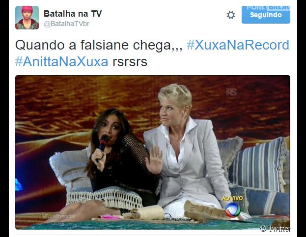 "Anitta participa do ""Programa Xuxa Meneghel"" e memes explodem nas redes sociais"