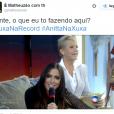 """Anitta foi ao """"Programa Xuxa Meneghel"""" e a internet caiu matando com muitos memes"""