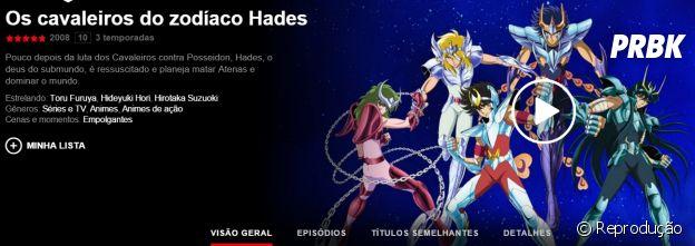 """Na Netflix: anime """"Os Cavaleiros do Zodíaco"""" está disponível na plataforma de streaming"""