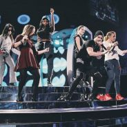 Fifth Harmony ensaia para o Grammy Latino 2015 com o colombiano Maluma. Veja foto!
