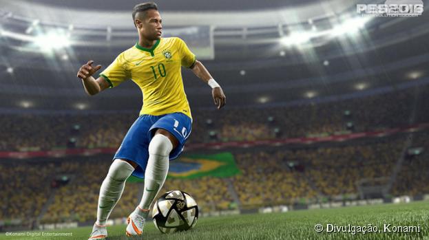 """""""PES 2016"""", da Konami,terá versão gratuita com Brasil e outros grandes times!"""