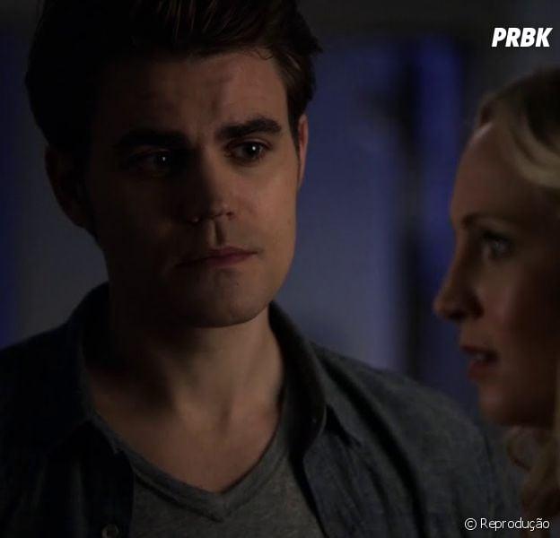 """Em """"The Vampire Diaries"""", Sfetan (Paul Wesley) descobre que Caroline (Candice Accola) está grávida!"""