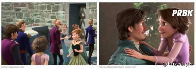 """De """"Frozen"""":Rapunzel e o príncipe Flynn, de """"Enrolados"""", participaram da coroação de Elsa"""