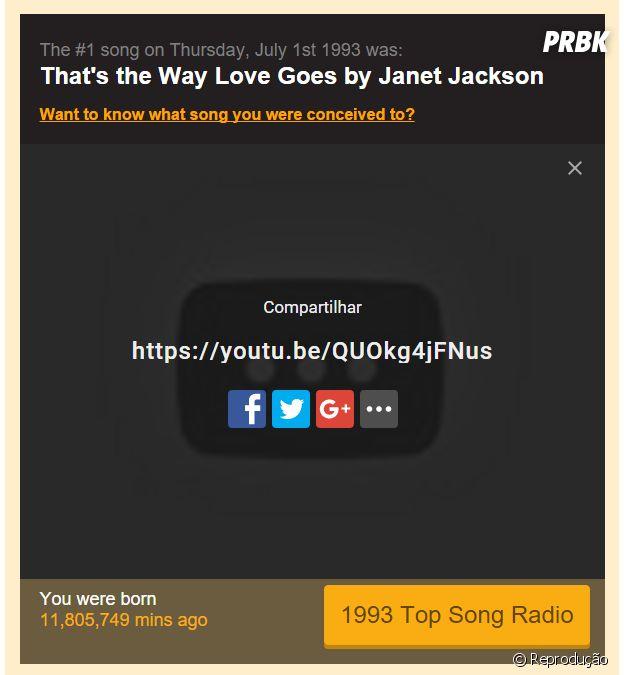"""Compartilhe a música que bombava no seu nascimento com o site""""Find the #1 Song on the Day You Were Born"""""""