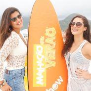 """Novela """"Malhação"""": Lívian Aragão e Giulia Costa gravam especial da trama em praia do Rio!"""