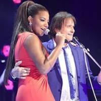 """Ludmilla posta foto com Roberto Carlos e agradece oportunidade de cantar com o Rei: """"Muito obrigada"""""""