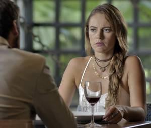 """Em """"Além do Tempo"""", Melissa (Paolla Oliveira) planeja com Pedro (Emílio Dantas) de usar Alex (Kadu Schons) para afetar Felipe (Rafael Dantas) e Lívia (Alinne Moraes)"""