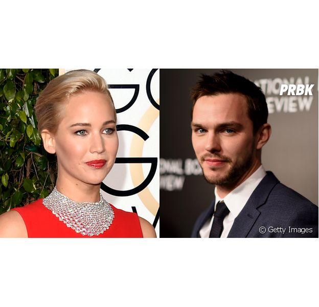 Veja Jennifer Lawrence e Nicholas Hoult se reencontrando no Globo de Ouro 2016