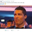 Pelo visto Cristiano Ronaldo não curtiu nadinha ter ficado para trás...