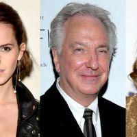 "De ""Harry Potter"": Emma Watson e J.K. Rowling lamentam morte de Alan Rickman, o Snape"