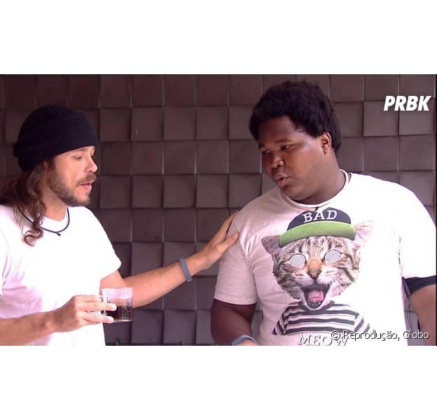 """No """"BBB16"""", Tamiel e Ronan conversam e resolvem as diferenças após eliminação de Daniel"""