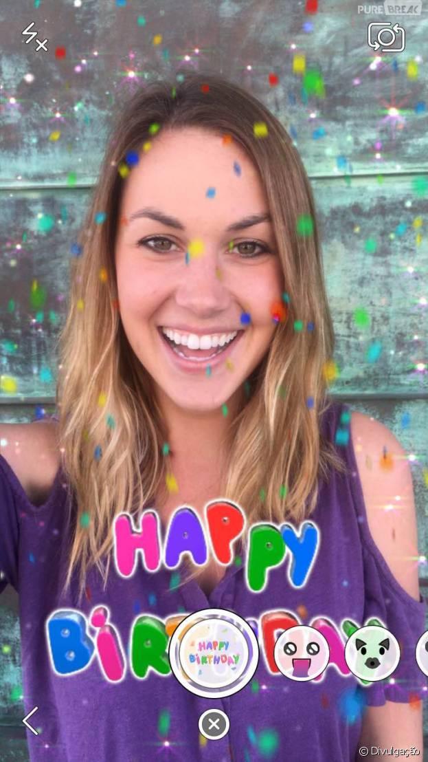 Snapchat imita o Facebook e lança lentes comemorativas de aniversário!
