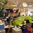 Nos escritórios do Facebook ambiente descontraído é a regra