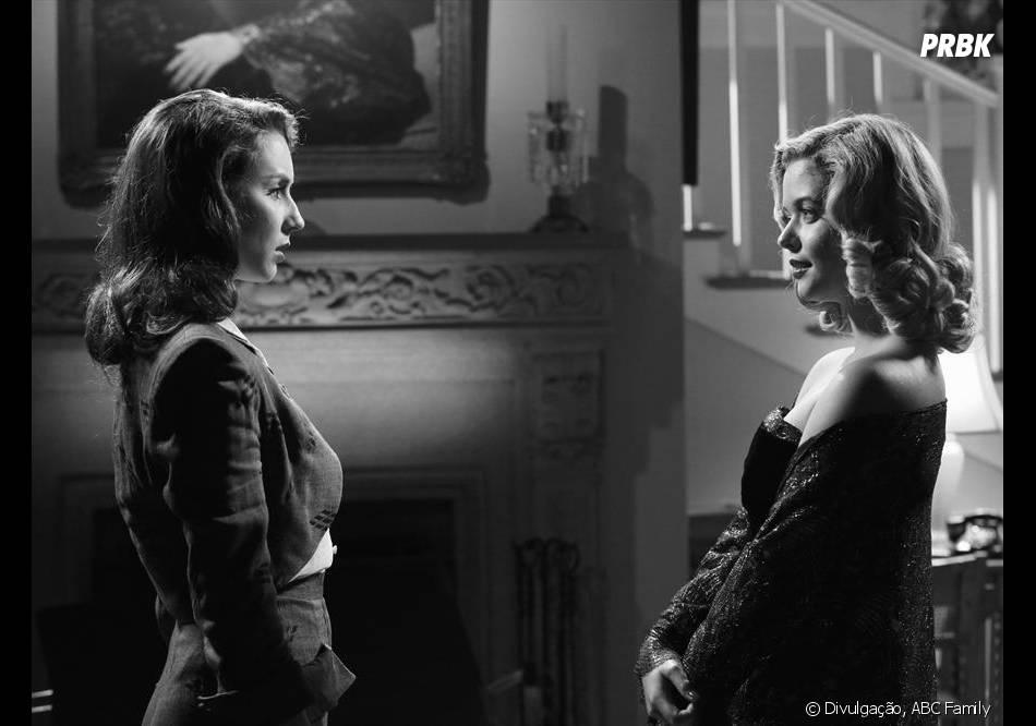 "Em ""Pretty Little Liars"", Alison (Sasha Pieterse) acusará Spencer (Troian Bellisario) do crime contra ela"