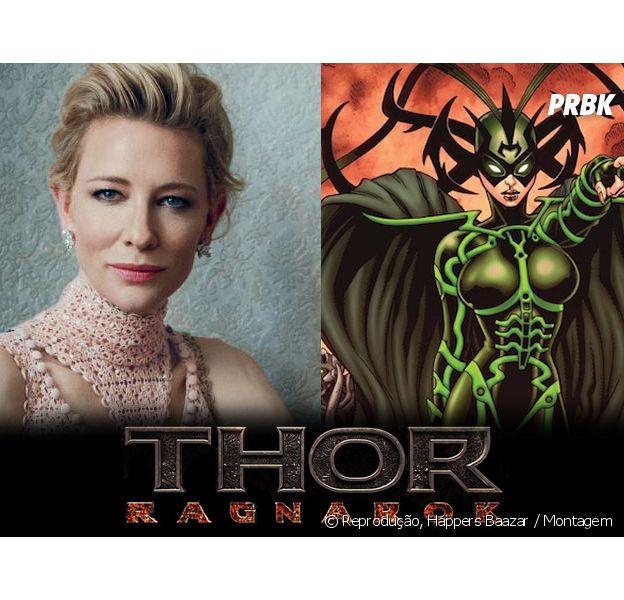 """Cate Blanchett, de """"Cinderela"""",entra para o elenco de """"Thor 3: Ragnarok"""" e pode ser grande vilã da história"""