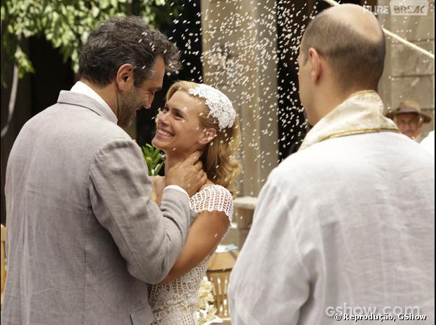 """Iolanda (Carolina Dieckmann)e Mundo (DomingosMontagner)finalmente se casam em """"Joia Rara"""""""