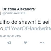 """Shawn Mendes comemora um ano do lançamento do álbum """"Handwritten"""" e fãs sobem hashtag no Twitter!"""