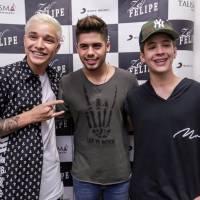 MC Gui, João Guilherme, namorado de Larissa Manoela, e Zé Felipe aparecem juntos em foto e fãs piram