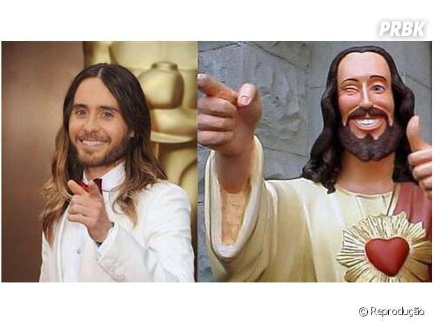 Jared Leto e sua enorme semelhança com nada menos que Jesus virou meme também