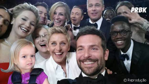 A pequena Clhoe também quis fazer parte da Selfie das celebridades