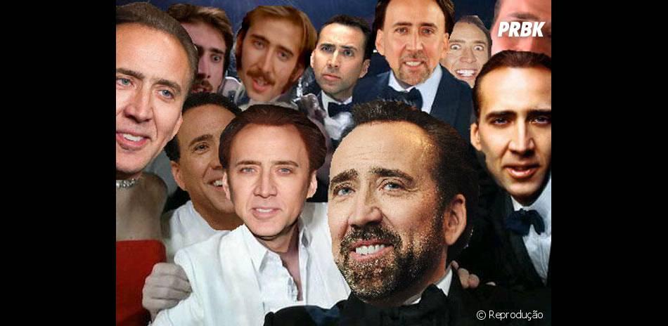Já nesse selfie todas as estrelas viraram Nicolas Cage