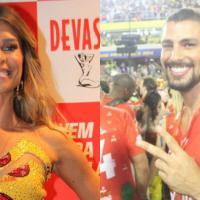 Grazi Massafera e Cauã Reymond curtem o Carnaval no Rio, em camarotes separados