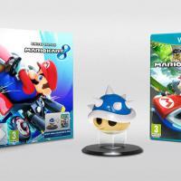 """Edição Limitada de Mario Kart 8 vem com o fatal """"casco azul"""" sobre um pedestal"""