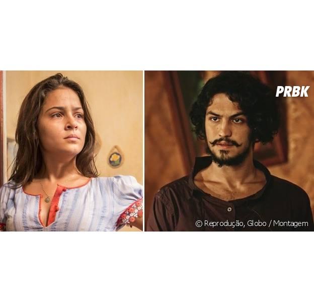 """Em """"Velho Chico"""", Miguel (Gabriel Leone) e Olívia (Giullia Buscacio) se conhecem e Luzia (Lucy Alves) fica preocupada!"""