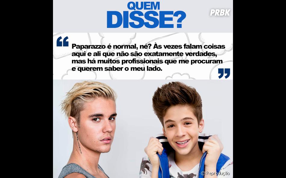 Justin Bieber ou João Guilherme Ávila? Quem falou isso?