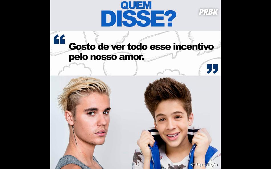 Justin Bieber ou João Guilherme Ávila? E aí, faça sua aposta!