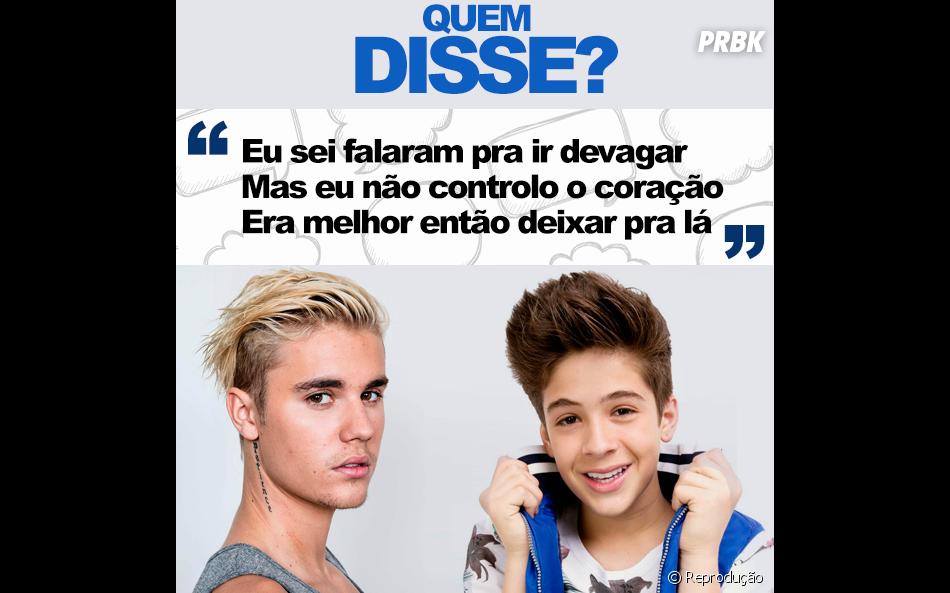 Justin Bieber ou João Guilherme Ávila? Já sacou quem disse isso?
