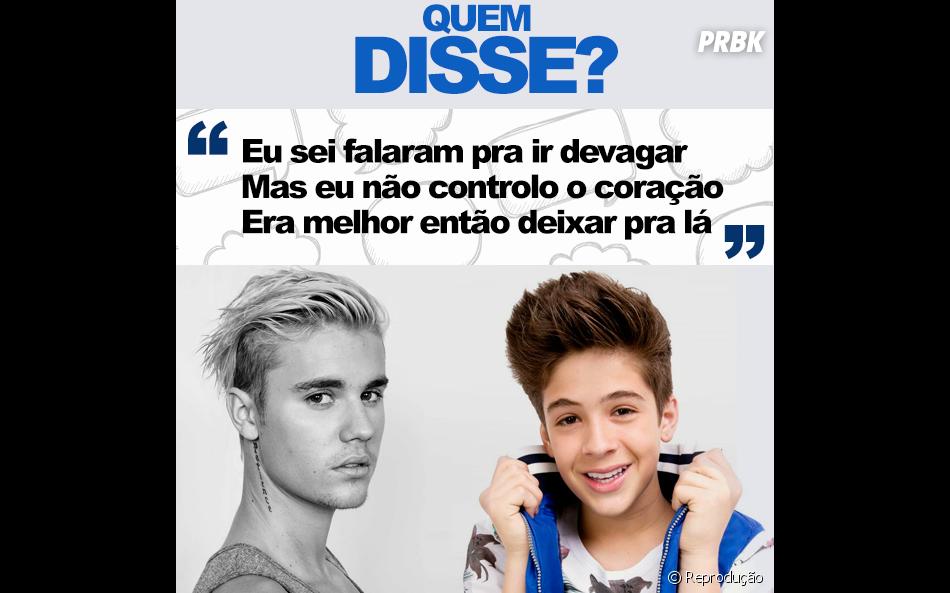 """Foi o João Guilherme Ávila, em um trecho de uma das músicas de seu EP """"É Tudo Você"""""""
