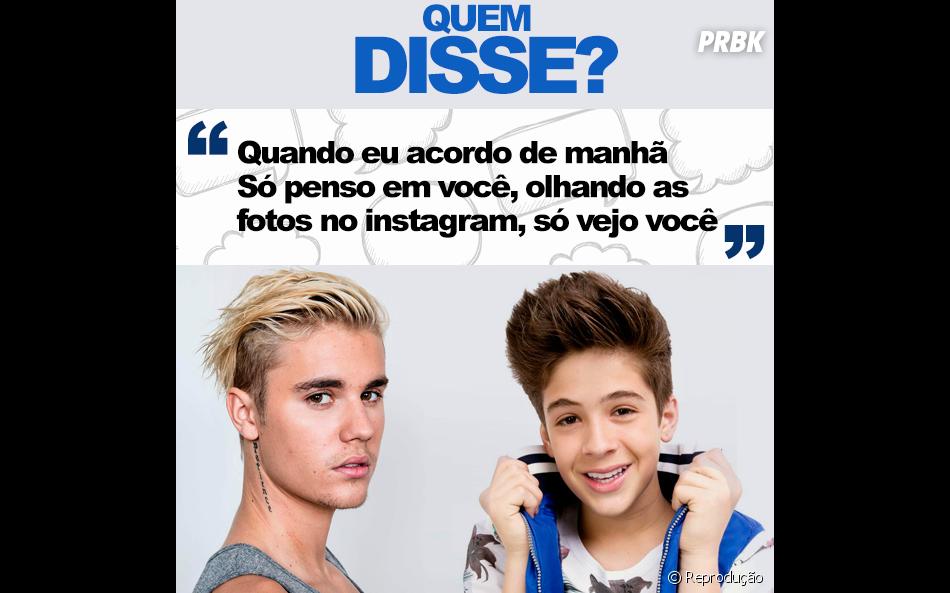 Justin Bieber ou João Guilherme Ávila? Já sacou?