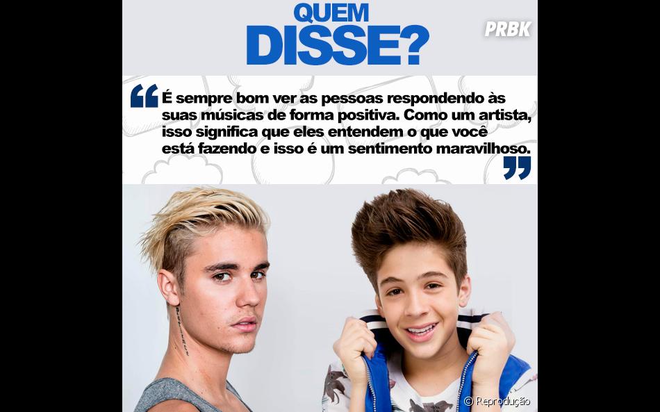 Justin Bieber ou João Guilherme Ávila? Essa está um pouco mais fácil, hein