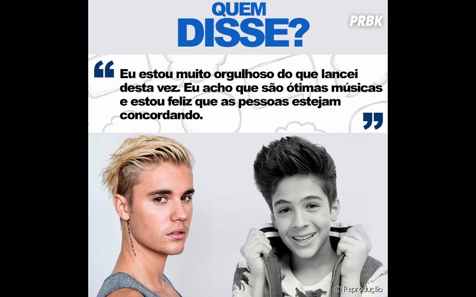 """Foi o ínterprete do hit """"Sorry"""", Justin Bieber!"""