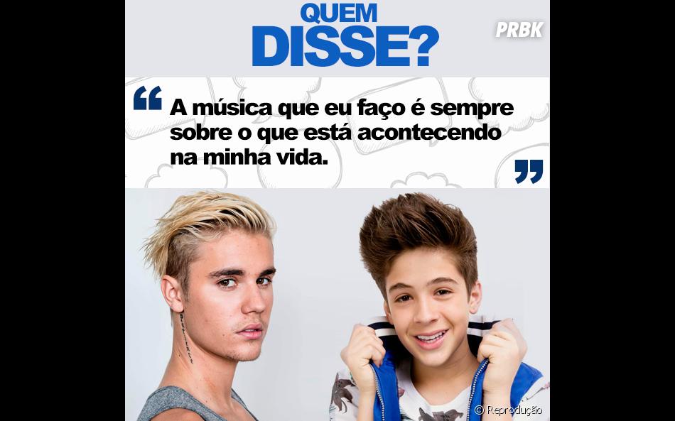 Essa não está difícil, hein? Quem disse? Justin Bieber ou João Guilherme Ávila?