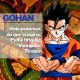 """De """"Dragon Ball"""": Gohan é um jovem muito esforçado e dedicado"""