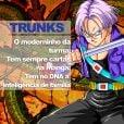 """De """"Dragon Ball"""": Trunks, o filho de Bulma e Vegeta, herdou a inteligencia dos pais!"""