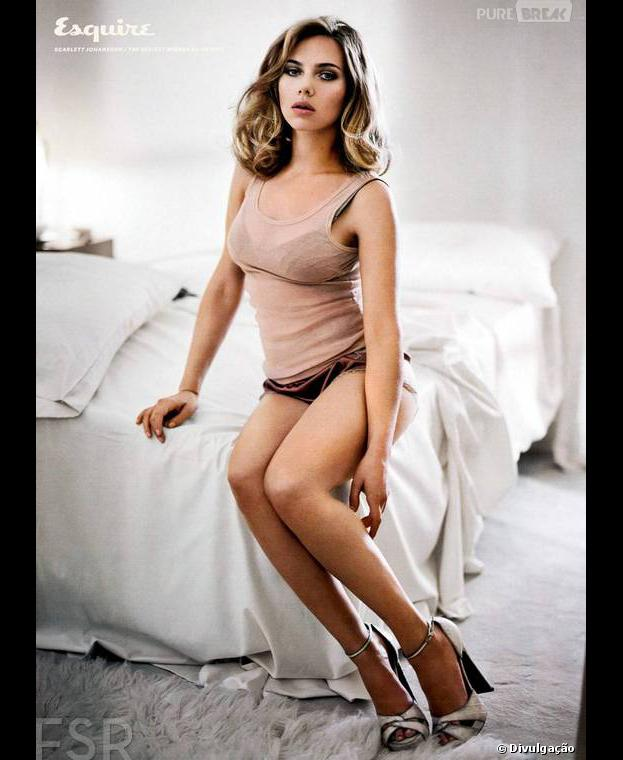 """A revista """"Esquire"""" elegeu, pela segunda vez, Scarlett Johansson como a mulher mais sexy do mundo"""