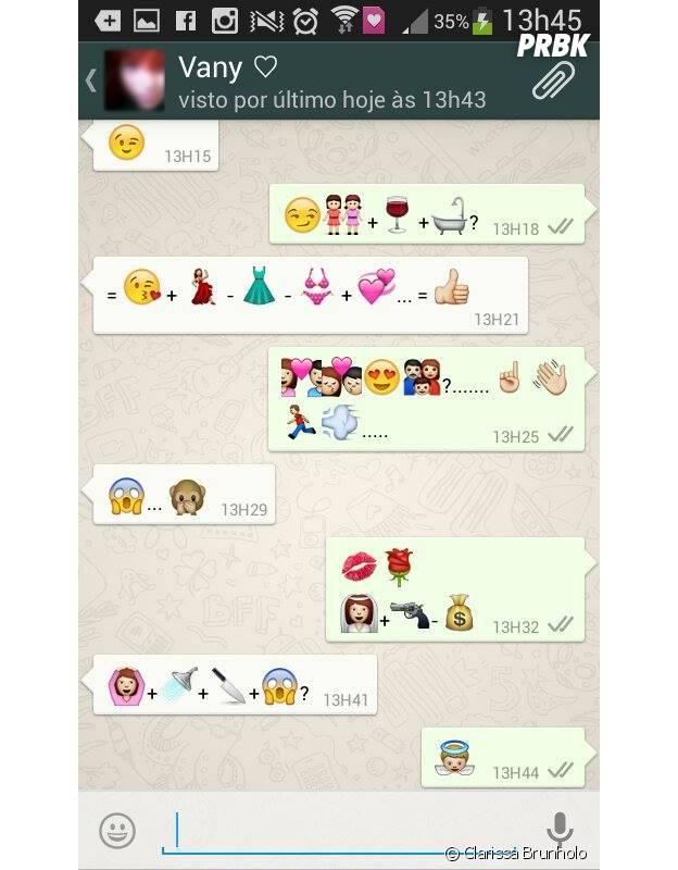 Conversando no whatsapp. Quase como contar um filme.