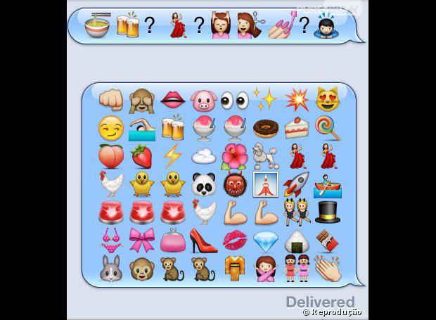 Conversa de emoticons. Confuso?